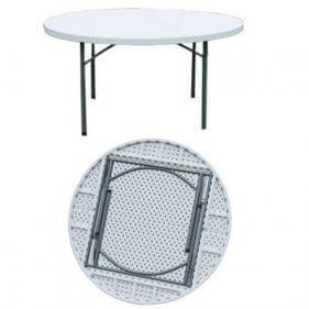 שולחן מתקפל עגול 110
