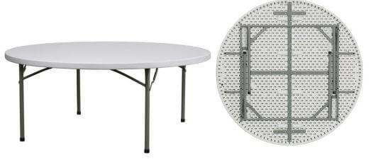 שולחן עגול מתקפל 1.50 מטר