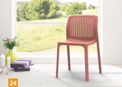 כסא דגם פלורנס פסים