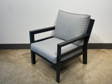 כורסא דגם פנמה צבע אפור כהה