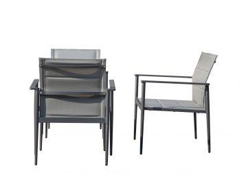 כסא לגינה דגם ניו אקספרט - צבע אפור