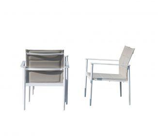 כסא לגינה דגם ניו אקספרט - צבע לבן