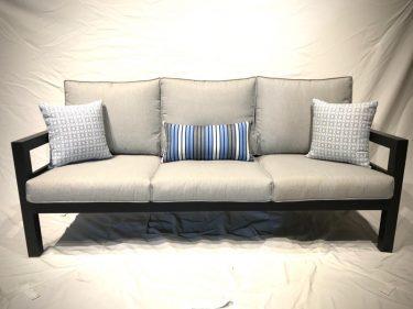 ספת תלת מושבית דגם פנמה - צבע אפור כהה