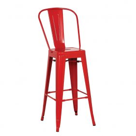 כסא בר אלומניום דגם סנדי אדום