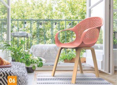 כסא פלסטיק - קוברה רגלי עץ