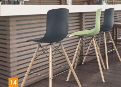 כסא בר דגם מאיה רגלי עץ