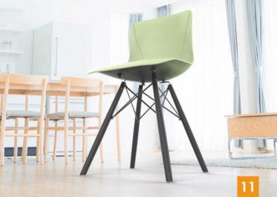 כסא מאיה רגליים שחורות