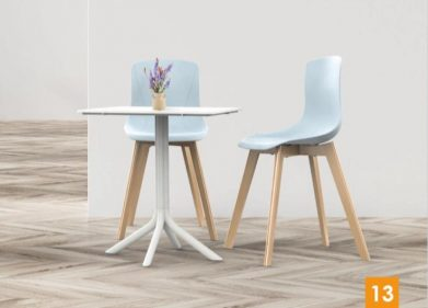 כסא דגם מאיה רגל X מעץ
