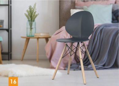 כסא דגם פרינס רגלי עץ