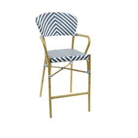 כסא בר זברה כחול