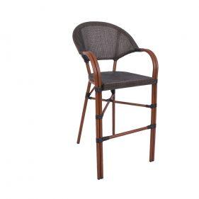 כסא בר פריז צבע עץ טבעי