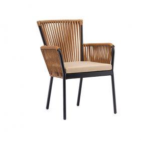 כורסא דגם קורל צבע עץ