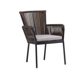 כורסא דגם קורל צבע חום