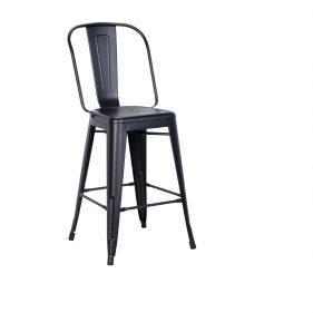 כסא בר אלומניום דגם סנדי שחור