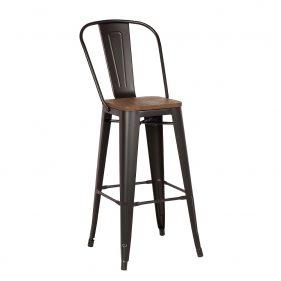 כסא בר אלומניום דגם סנדי חום כהה
