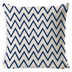 כרית נוי בד סנברלה כחול לבן
