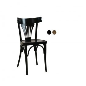 כסא עץ למסעדה - דגם מניפה