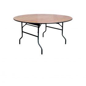 שולחן עץ מתקפל עגול קוטר 180 ס